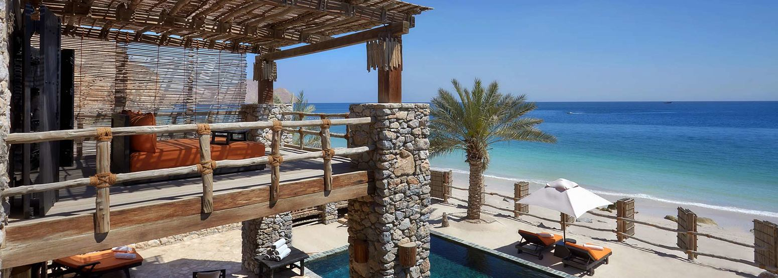 Two Bedroom Beachfront Retreat at Six Senses Zighy Bay Oman