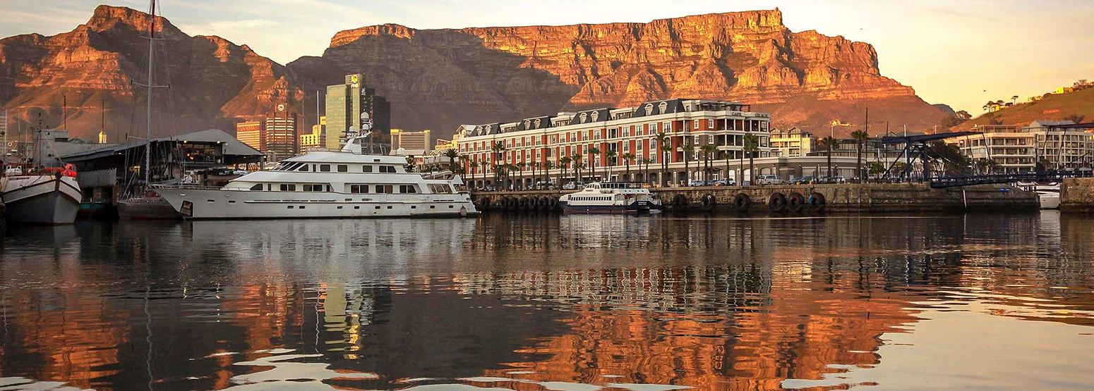 View across the harbour of Cape Grace Hotel South Africa