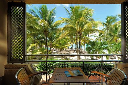 View from room at Le Mauricia Mauritius