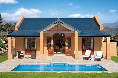 Villa 4 exterior at la Residence South Africa