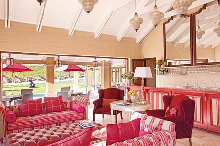 Vineyard Suites Terrace Room Bar at la Residence South Africa