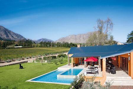 Vineyard Suites Terrace Room Pool at la Residence South Africa