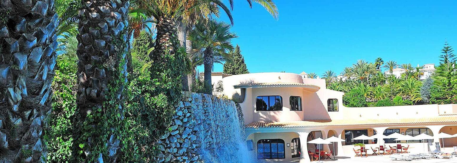Waterfall at vilara thalassa resort portugal