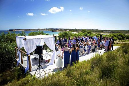 Wedding on the terrace at Martinhal Resort, Portugal