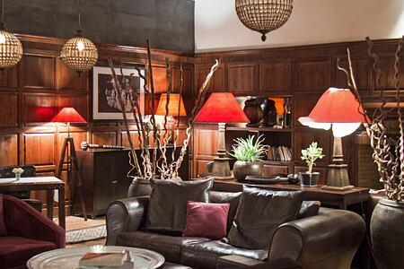 Winter lounge at Villa des Oranges Morocco
