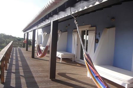 Wooden deck at Monte Velho, Portugal