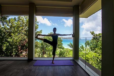 Yoga at Raffles Praslin Seychelles