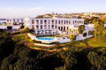 aerial view of the plettenberg South Africa