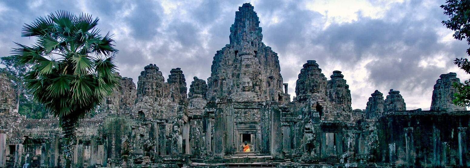 Temple entrance at angkor siem reap cambodia