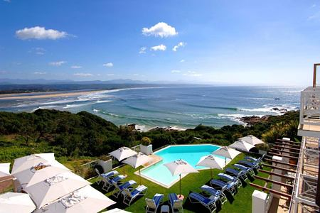 bay view from the pool at the plettenberg South Africa