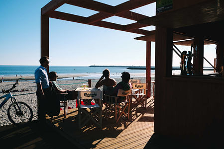 The beach bar at Feelviana, Portugal