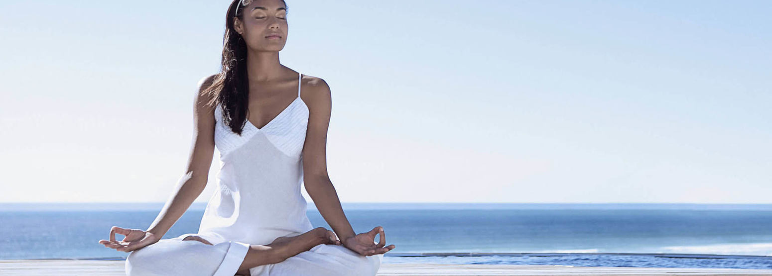 Meditating at Epic Sana Portugal