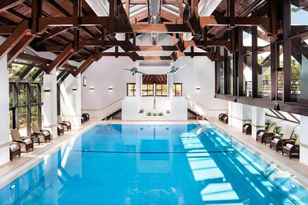 Indoor pool at Pine Cliffs, Portugal