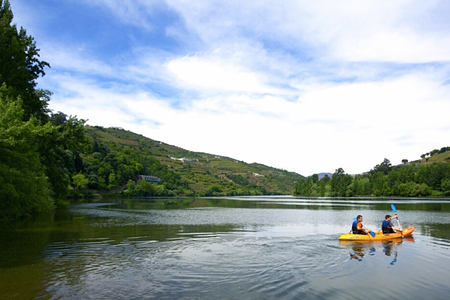 kayaking on the river at Six Senses Douro Valley Portugal