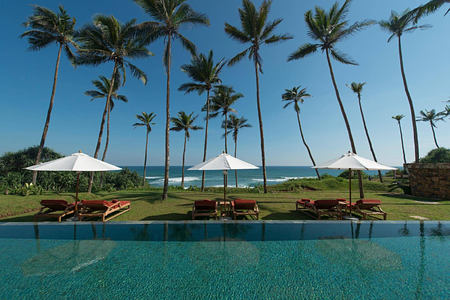 residence pool and garden at Cape Weligama Sri Lanka