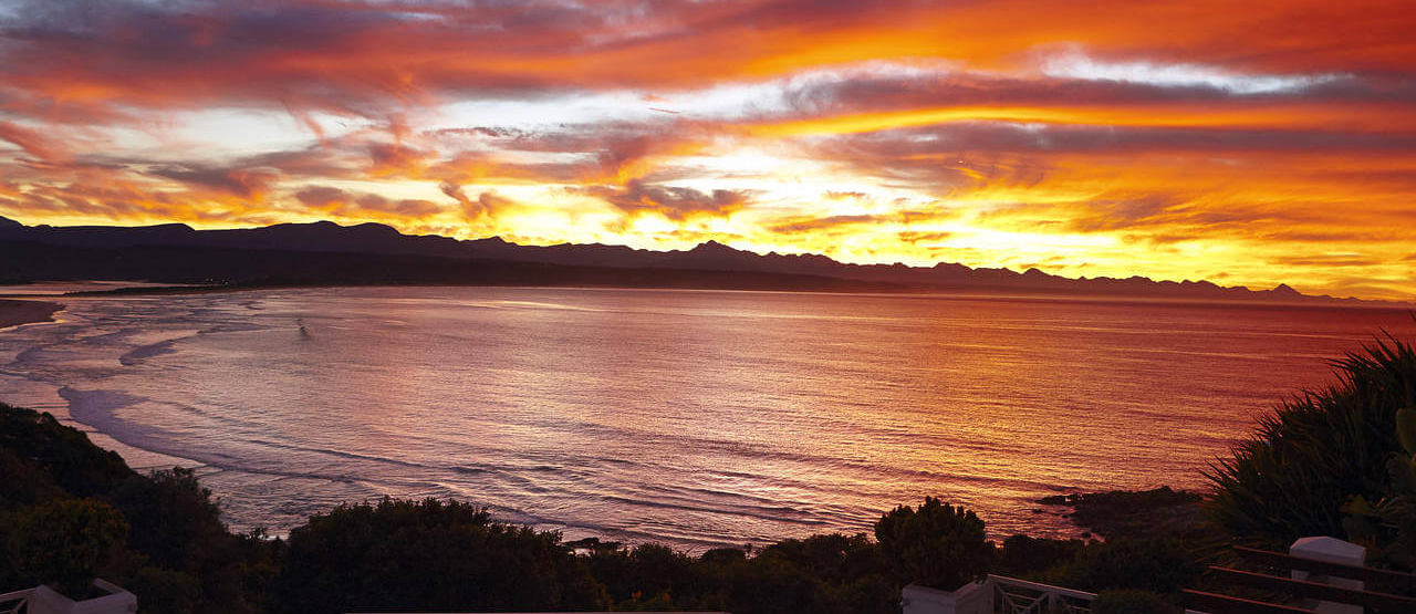 sunset view at the plettenberg South Africa