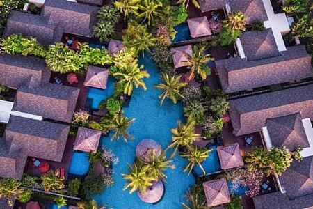 Aerial view of resort at St Regis Bali Indonesia