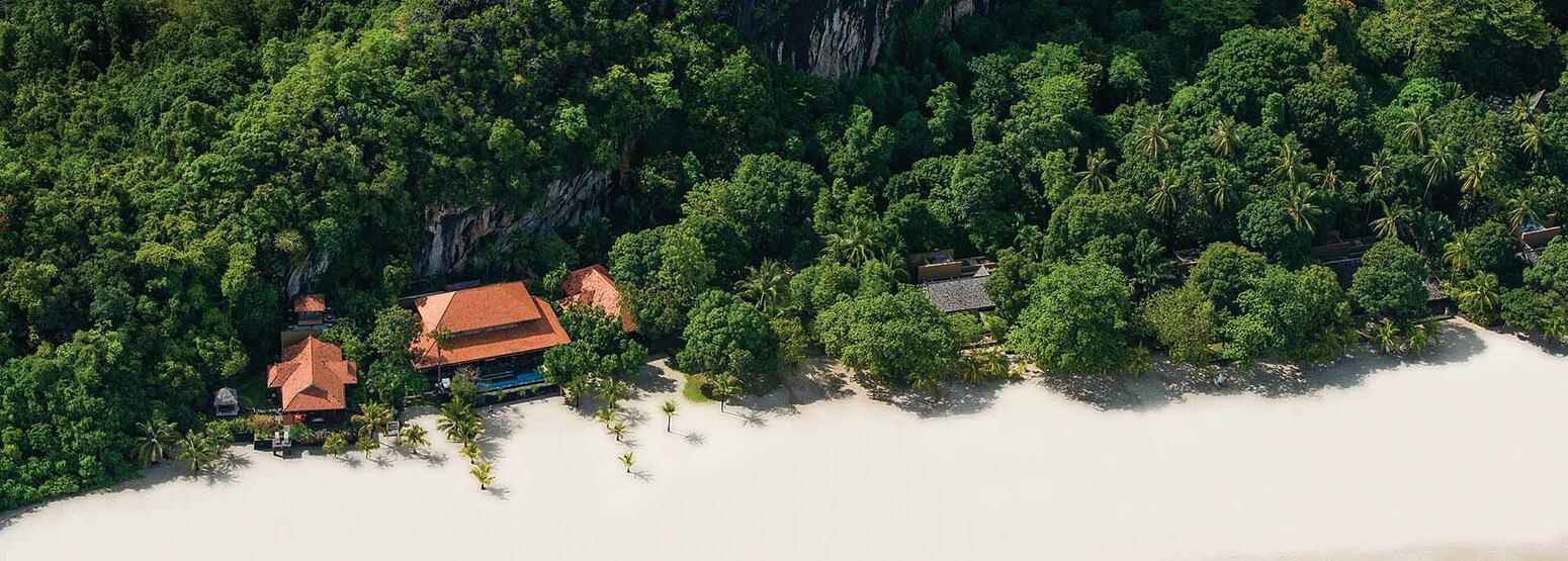 Aerial view of Four Seasons Langkawi Malaysia