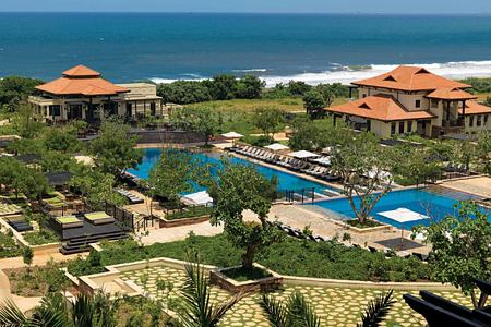 Aerial view of Main Pool and sea at Zimbali Coastal Resort South Africa