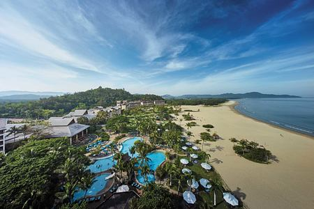 Aerial view of Shangri la Rasa Ria Borneo Malaysia