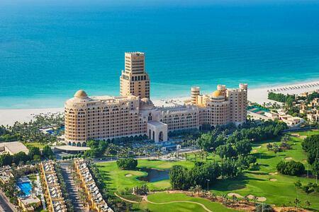 Aerial view of Waldorf Astoria UAE