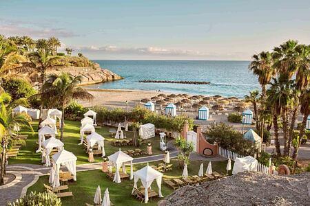 Aerial view of beach at Gran Hotel Bahia del Duque Tenerife Spain