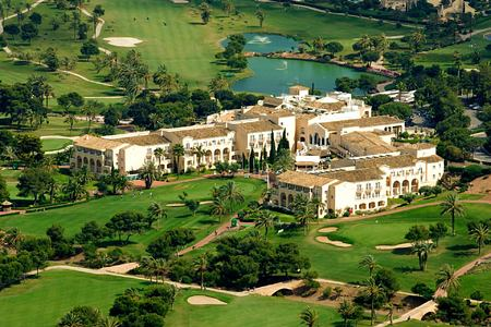 Aerial view of la Manga Club Spain