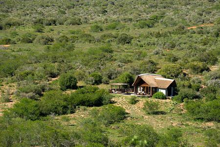 Aerial view of lodge at Great Fish River Lodge South Africa