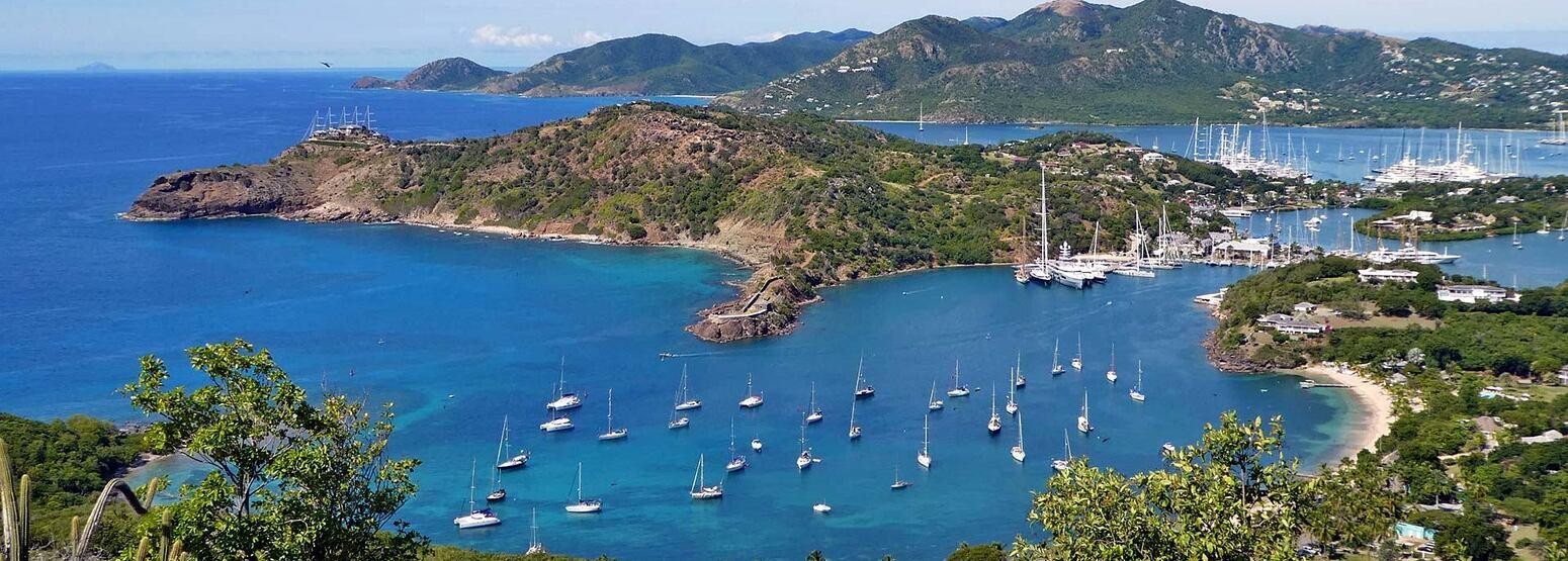 Antigua sea and sailing