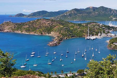 Antigua sea and sailing