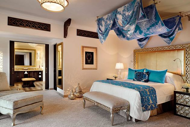 Arabian Court Prince Suite Bedroom at The Royal Mirage Dubai