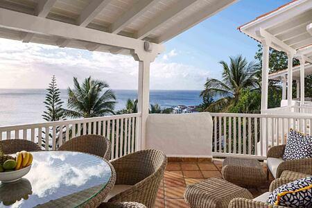 Balcony terrace at Windjammer Landing St Lucia