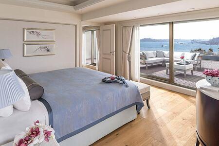 Barbaros Suite Bedroom at Shangri la Bosphorus Turkey