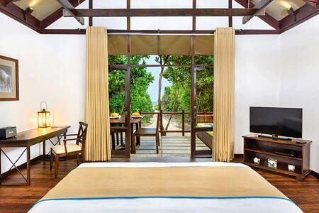 Beach Cabin interior at Jungle Beach Sri Lanka