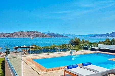 Beach Front Villa pool at Elounda Gulf Villas and Suites Crete
