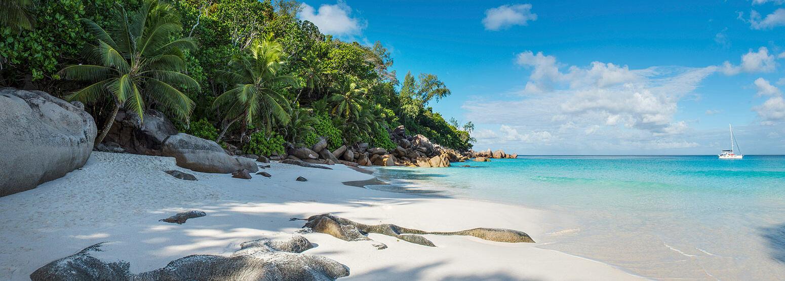Beach Panorama at Constance Lemuria Resort Seychelles