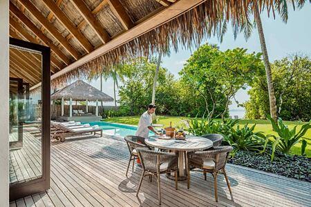 Beach Villa Pool at Como Maalifushi Maldives