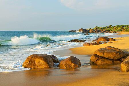 Beach at Chena Huts Sri Lanka