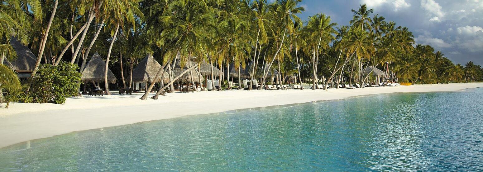 Beach at Shangri la Villingili Maldives