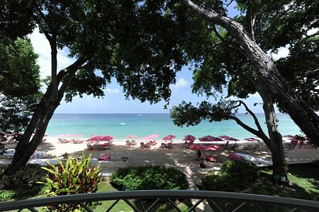 Beach from Balcony at Sandy Lane Barbados