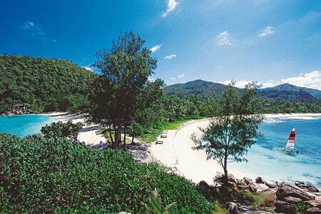 Beach view at Constance Lemuria Resort Seychelles