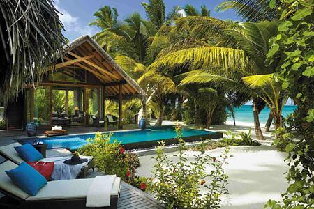 Beachfront villa with private pool at Shangri la Villingili Maldives