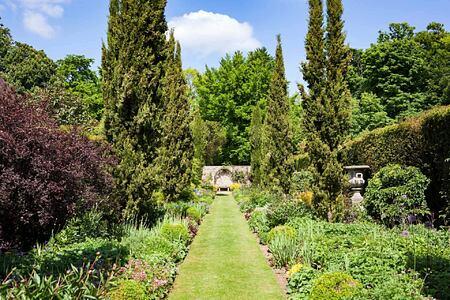Beautiful gardens at Lucknam Park England