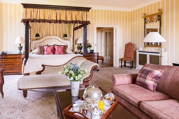 Bedroom at Lucknam Park England