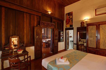 Bedroom at Somatheeram Kerala India