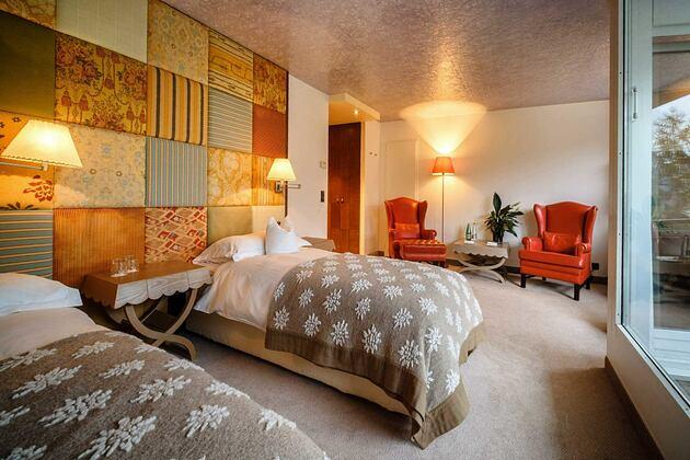 Bedroom at Tschuggen Grand Arosa Switzerland