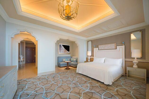 Bedroom at Waldorf Astoria UAE