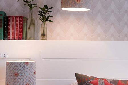 Bedside lamp in bedroom at Welgelegen Guesthouse South Africa