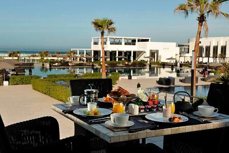 Breakfast on the terrace at Sofitel Thalassa Agadir Morocco