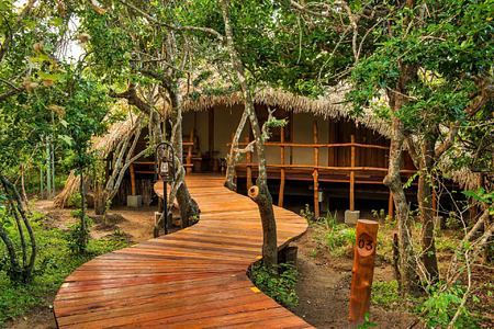 Cabin Entrance at Chena Huts Sri Lanka